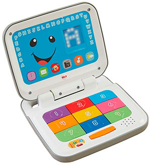 Ordenador infantil de Fisher Price.