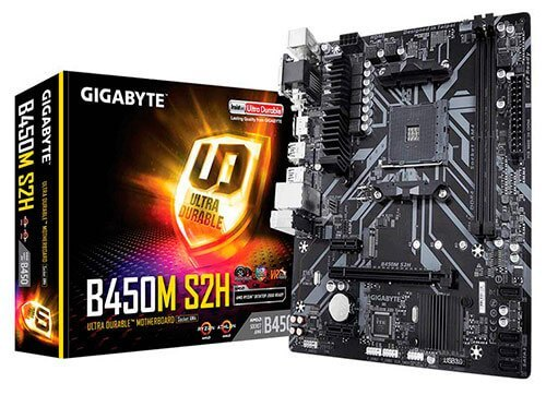 Placa base Gigabyte B450M S2H.