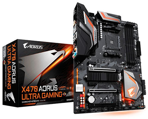 Placa base Gigabyte X470 Aorus Ultra Gaming.