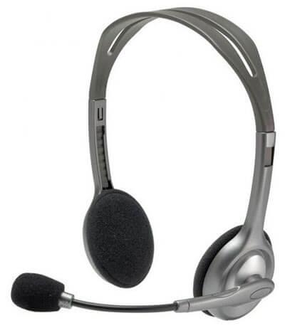 Auriculares con micro Logitech H110