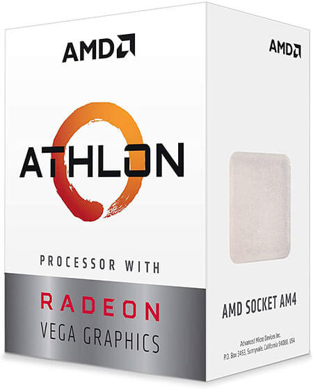 Procesador AMD Athlon 3000G.