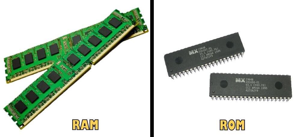Diferencias entre ROM y RAM.